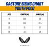 West Coast Eagles Castore Youth Media Polo Royal