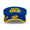 West Coast Eagles New Era Sun Visor Royal/Gold