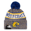 West Coast Eagles Grey Pom Knit Beanie