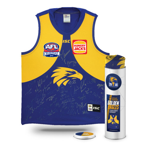 West Coast Eagles Signed Premiership Guernsey Tin