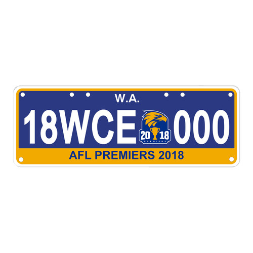 West Coast Eagles 2018 Premiership License Plates
