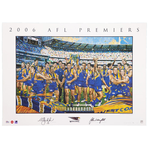 West Coast Eagles 2006 Premiership Sofilas Unframed Print