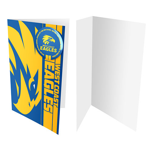 West Coast Eagles Badge Card