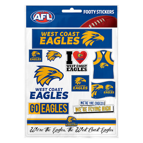 West Coast Eagles Footy Stickers