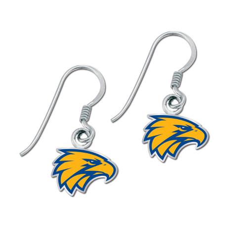 West Coast Eagles Colour Logo Earrings