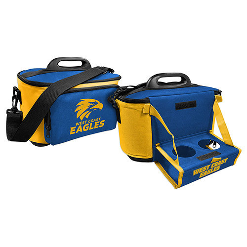 West Coast Eagles Cooler Bag with Drink Tray