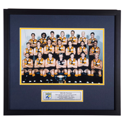 West Coast Eagles 1992 Framed Premiership Photo