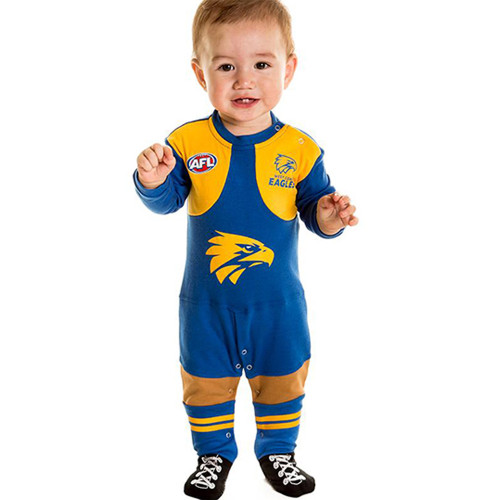 West Coast Eagles Infant Footysuit Romper