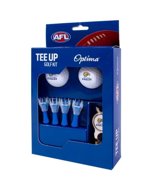 West Coast Eagles Golf Tee Up Gift Set