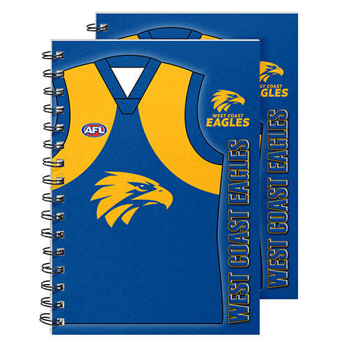 West Coast Eagles Guernsey Notebook 2pk
