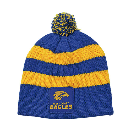 West Coast Eagles Infant Striped Beanie