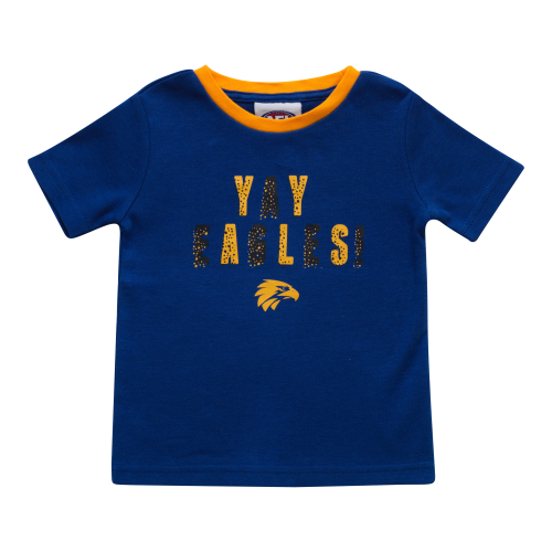 West Coast Eagles Infant Yay Tee