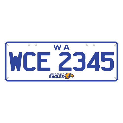 West Coast Eagles License Plates