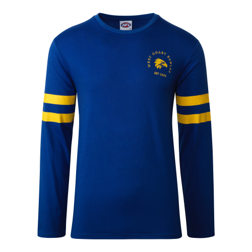 West Coast Eagles Men's Supporter Tee Long Sleeve