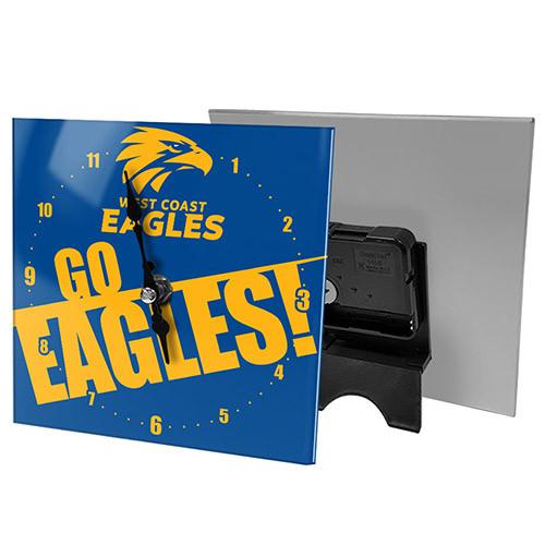 West Coast Eagles Mini Glass Clock