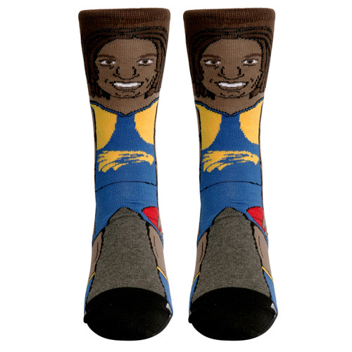 West Coast Eagles Nerd Socks Naitanui
