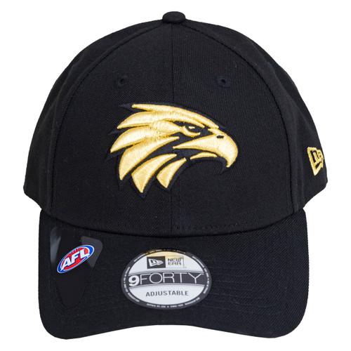 West Coast Eagles New Era 9Forty Cap Black/Gold
