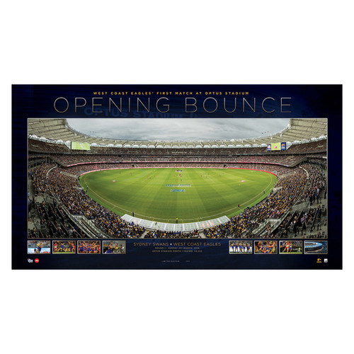 West Coast Eagles Opening Bounce Unframed Print