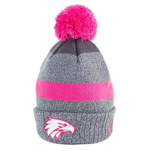 West Coast Eagles New Era Beanie Pink/Graphite