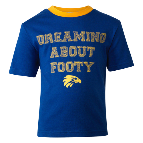 West Coast Eagles Toddler Summer Pyjamas