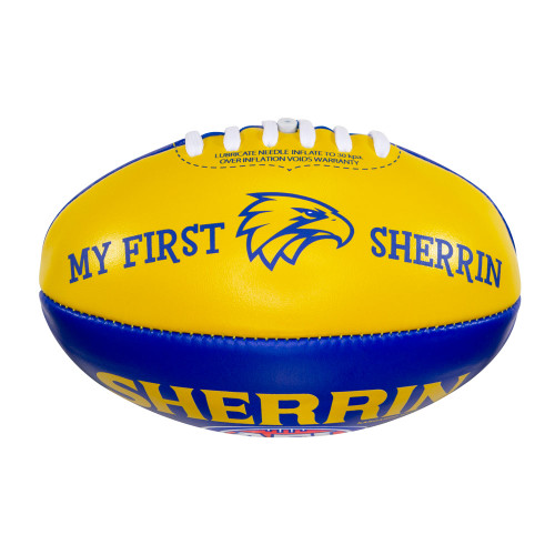 West Coast Eagles Sherrin Ryl/Gld My 1stFootball