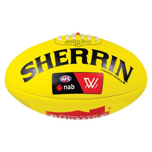 West Coast Eagles Sherrin Yellow AFLW Football