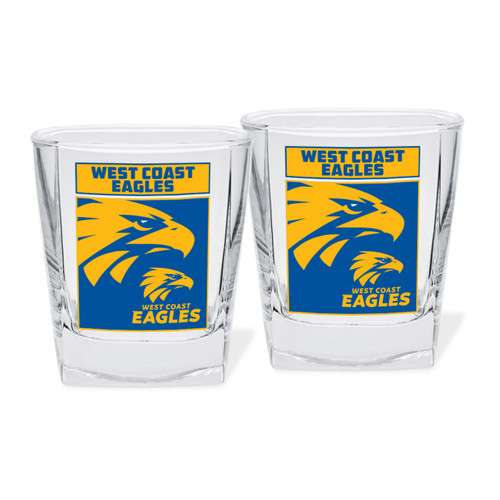 West Coast Eagles Spirit Glass Set 2pc