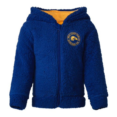 West Coast Eagles Toddler Sherpa Hoody