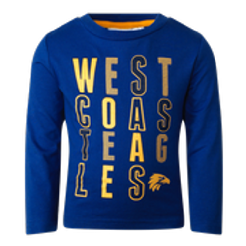 West Coast Eagles Toddler Winter Pyjamas