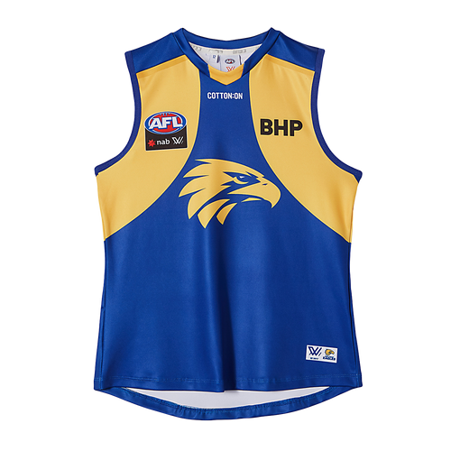 West Coast Eagles Cotton On Youth AFLW Home Guernsey