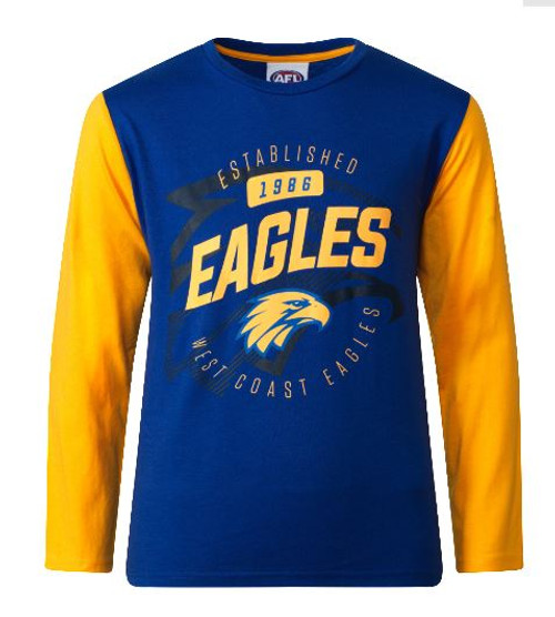 West Coast Eagles Youth Supporter Tee Long Sleeve