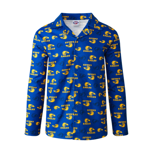 West Coast Eagles Men's Flannelette Pyjama Set