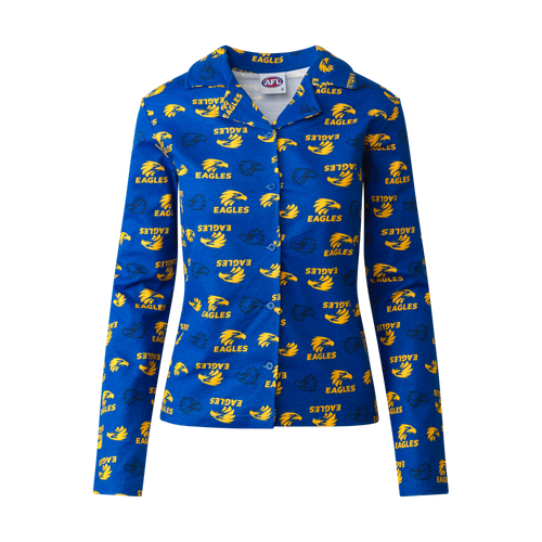 West Coast Eagles Women's Flannelette Pyjama Set