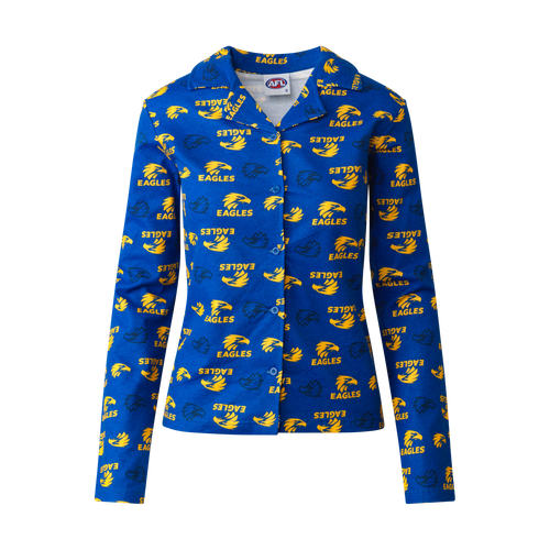 West Coast Eagles Toddler Flannelette Pyjama Set