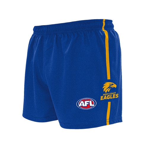 West Coast Eagles Youth Football Shorts Royal