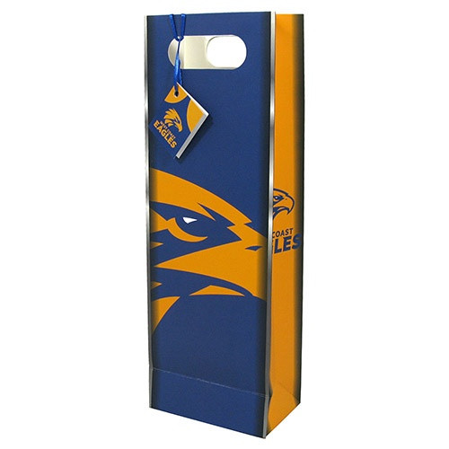West Coast Eagles Bottle Gift Bag