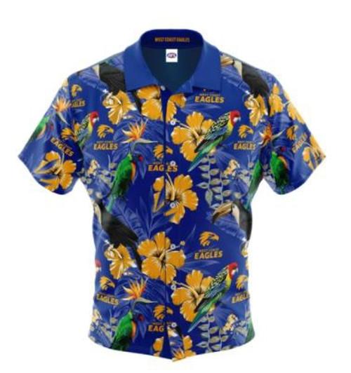 West Coast Eagles Men's Hawaiian Shirt