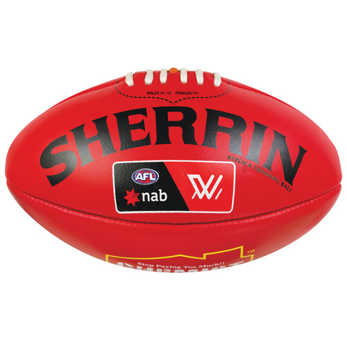 West Coast Eagles Sherrin AFLW Replica Training Ball Red
