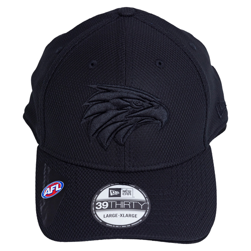 West Coast Eagles New Era 39Thirty Cap Black/Black