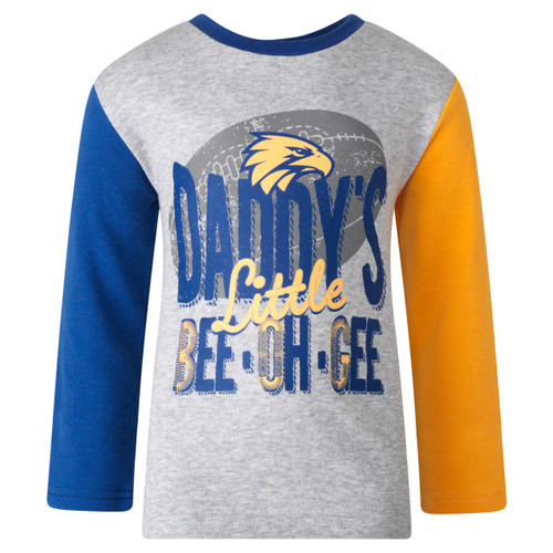 West Coast Eagles Toddlers Long Sleeve T-shirt