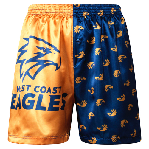West Coast Eagles Youth Satin Boxer Shorts