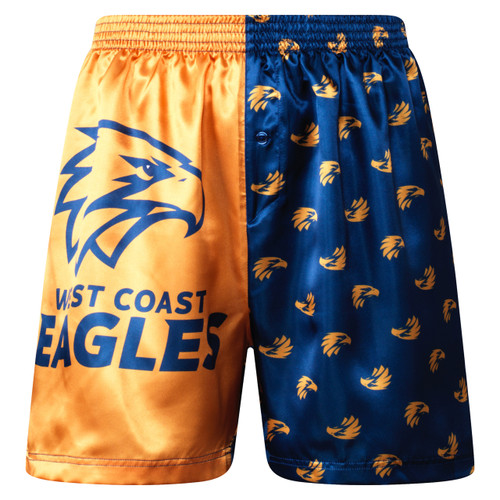 West Coast Eagles Men's Satin Boxer Shorts