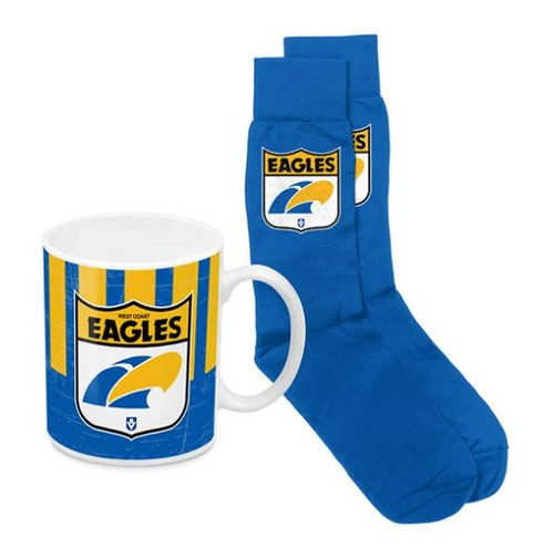 West Coast Eagles Heritage Mug and Sock Pack
