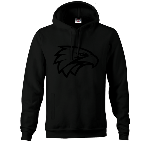 West Coast Eagles Youth Stealth Hoody Black on Black