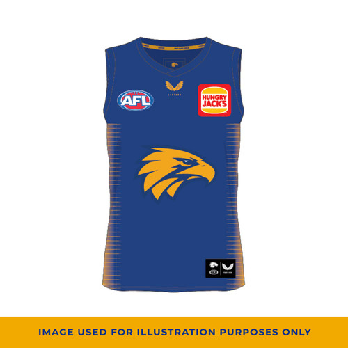 West Coast Eagles Castore Men's Training Guernsey Royal