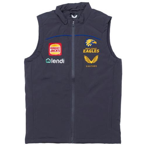 West Coast Eagles Castore Men's Padded Vest Carbon