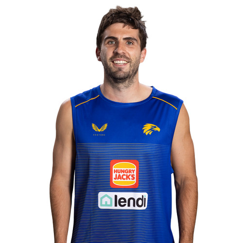 West Coast Eagles Castore Men's Training Tank Royal