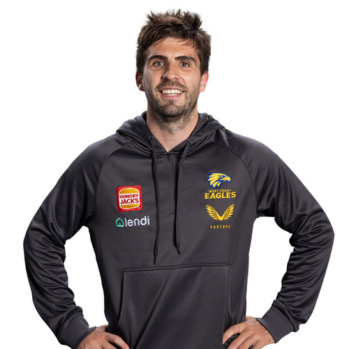 West Coast Eagles Castore Men's Travel Hoody Carbon
