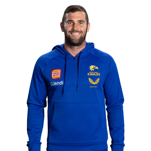 West Coast Eagles Castore Men's Travel Hoody Royal