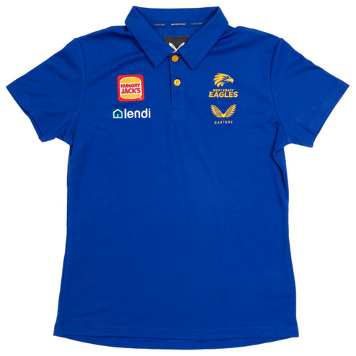 West Coast Eagles Castore Youth Media Polo Royal